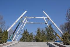 Construção da roda de Ferris 65 medidores em Rostov-On-Don Fotos de Stock