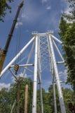 Construção da roda de Ferris 65 medidores em Rostov-On-Don Imagem de Stock