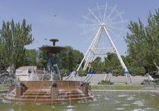 Construção da roda de Ferris 65 medidores em Rostov-On-Don Imagens de Stock