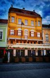 Construção da rua de Sibiu Romênia Imagem de Stock