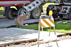 Construção da rua e do passeio Fotos de Stock Royalty Free