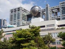 Construção da televisão de Fuji, Odaiba, Tóquio, Japão fotografia de stock