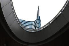 Construção da torre de Unicredit em Milão Foto de Stock