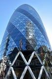 30 construção da torre do St Mary Axe na cidade de Londres, Reino Unido Fotografia de Stock