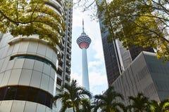 Construção da torre da tevê em Kuala Lumpur Close-up imagem de stock royalty free
