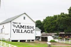 Construção da vila de Amish fotografia de stock royalty free