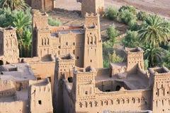 Construção da vila de Ksar Ait Ben Haddou Fotos de Stock Royalty Free