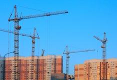 Construção das casas de apartamento Imagem de Stock