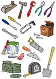 Construção das ferramentas Foto de Stock Royalty Free