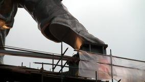 A construção das sapatas é feita do aço inoxidável do cromo-níquel video estoque