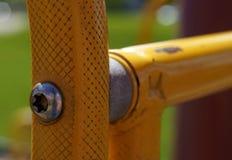 Construção de aço amarela Fotografia de Stock Royalty Free