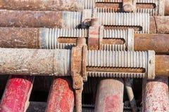 Construção de aço apoiada Fotografia de Stock Royalty Free