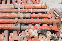 Construção de aço apoiada Foto de Stock Royalty Free