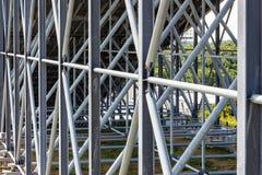 Construção de aço da inclinação interna Snowworld Zoetermeer do esqui, Países Baixos - 2 Imagem de Stock Royalty Free