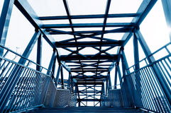 Construção de aço da ponte imagem de stock royalty free