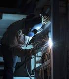 Construção de aço de solda foto de stock royalty free