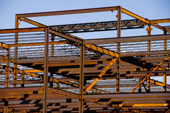 Construção de aço do frame de edifício Fotografia de Stock