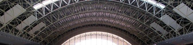 Construção de aço do telhado fotos de stock
