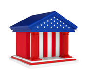 Construção de American Bank isolada ilustração stock