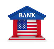 Construção de American Bank isolada Imagem de Stock