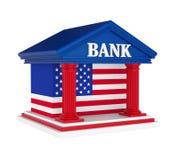 Construção de American Bank isolada ilustração royalty free