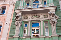 A construção de antigo Volga-Kama Commercial Bank Imagem de Stock Royalty Free