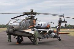 Construção de Apache AH-64D nos EUA imagem de stock