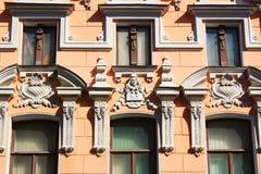 Construção de Art Nouveau em Astracã fotos de stock