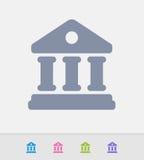 Construção de banco - ícones do granito ilustração royalty free
