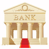 Construção de banco Foto de Stock Royalty Free