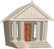Construção de banco Imagens de Stock Royalty Free