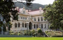 Construção de biblioteca parlamentar Wellington NZ Fotos de Stock Royalty Free
