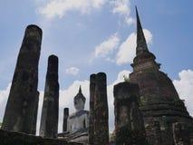 A construção de buddha no parque histórico de Tailândia Imagens de Stock