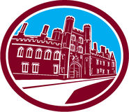 Construção de Cambridge da faculdade de St John retro Foto de Stock Royalty Free