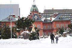 Construção de cargo no governo anterior do Hokkaido no Hokkaido, Sapporo, Japão Fotos de Stock