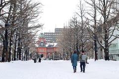 Construção de cargo no governo anterior do Hokkaido no Hokkaido, Sapporo, Japão Foto de Stock