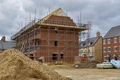 Construção de casa em andamento foto de stock