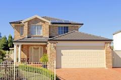 Construção de casa residencial Imagem de Stock Royalty Free