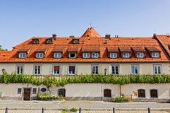 Construção de casa velha da videira em Maribor, Eslovênia Foto de Stock Royalty Free