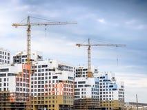 Construção de casas residenciais Foto de Stock Royalty Free