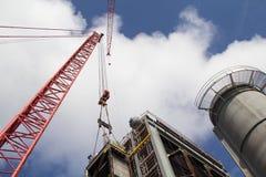 Construção de central elétrica Fotos de Stock