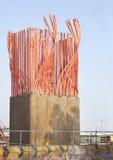 Construção de colunas do concreto reforçado Foto de Stock Royalty Free