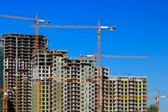 Construção de construções dos apartamentos Foto de Stock Royalty Free