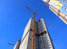 Construção de construções residenciais Foto de Stock Royalty Free