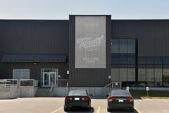 A construção de Dossel Crescimento Corporaçõ nos Smiths cai Ontário, Cana fotos de stock royalty free
