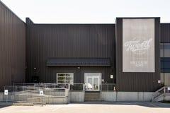 A construção de Dossel Crescimento Corporaçõ nos Smiths cai Ontário, Cana Foto de Stock