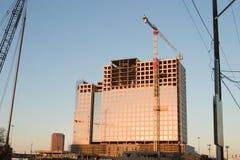 Construção de edifício + Crane2 foto de stock