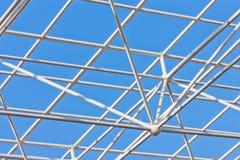 Construção de edifício da estrutura do aço do metal Foto de Stock