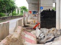 Construção de estradas Fotografia de Stock Royalty Free
