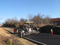 A construção de estradas asfaltadas Fotografia de Stock Royalty Free